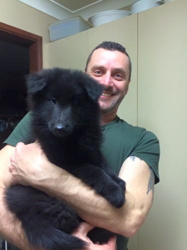 KoKo meets her human Dad, Fabio